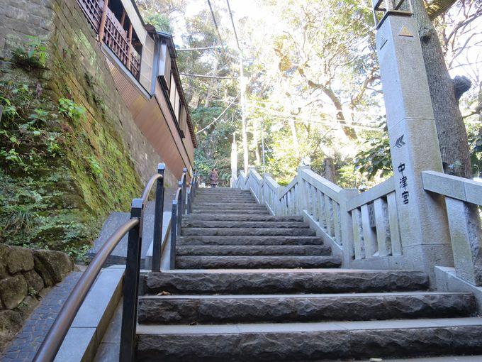 階段が多い江の島!「江の島エスカー」が便利