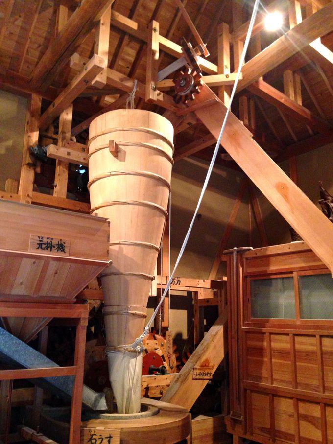水車の仕組みが一目で分かる!「かも手大輪水車」