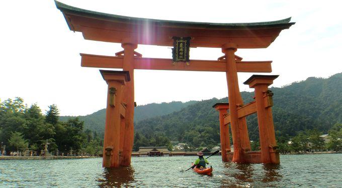 海から眺める厳島神社!宮島でシーカヤック体験