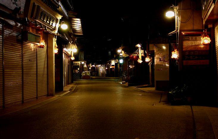 夜の宮島が見られるのは宿泊者の特権