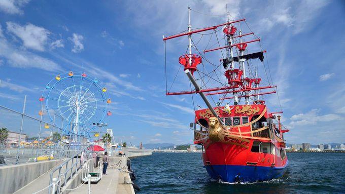 海賊船「海王」なら移動時間もエンターテイメント!遊んでいる間に宮島へ!
