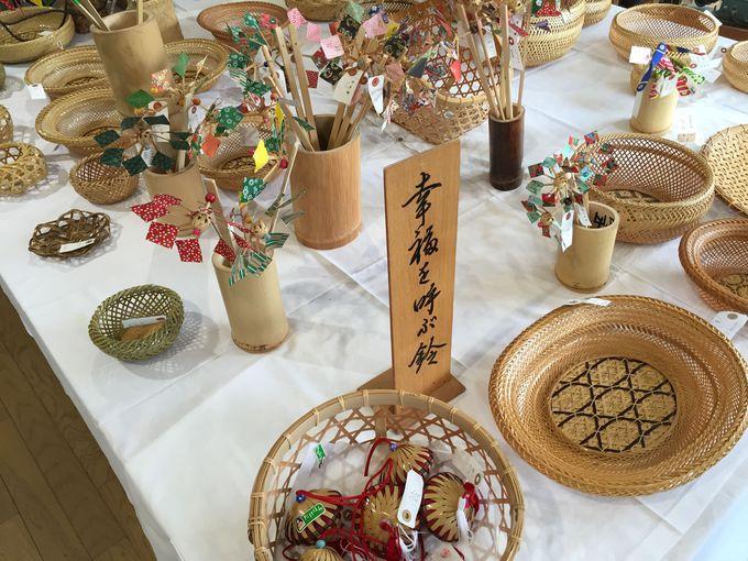 可愛いくて懐かしい竹細工の展示販売