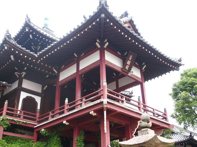 石段の上は絶景!西方寺と普明閣