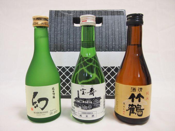 竹原の銘酒を味わうなら「竹原の地酒のみ比べセット」
