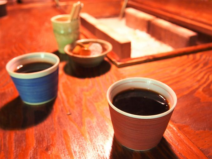 食後はちょっと特別なコーヒータイム
