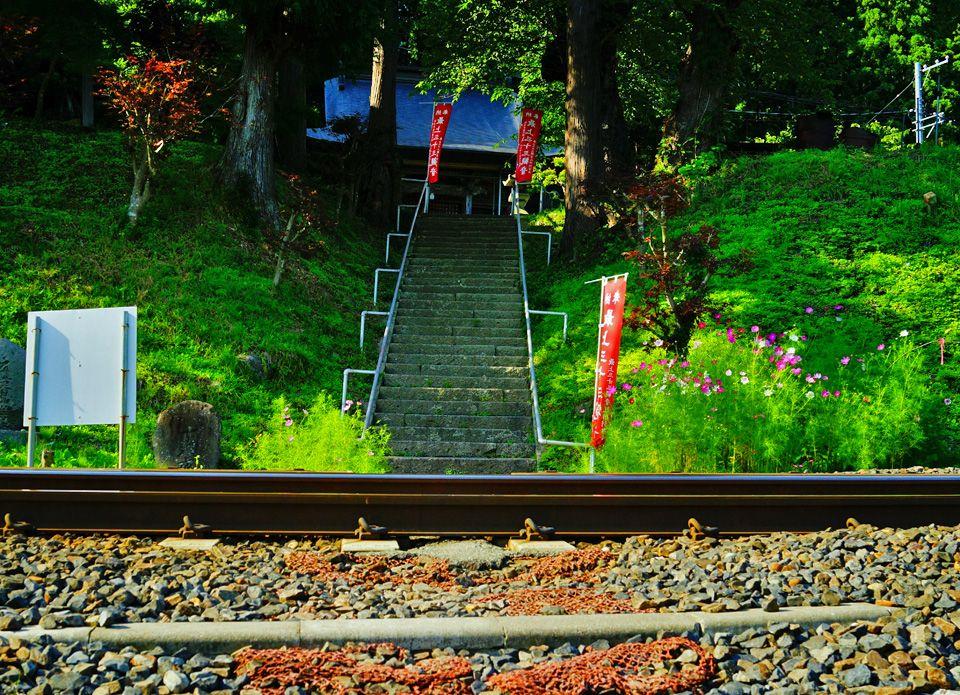 目の前を電車が通過!珍しさと迫力の珍光景