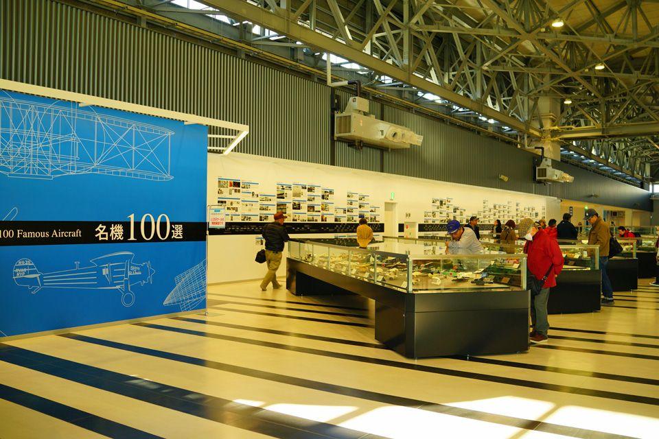 精密模型展示を見ながら、航空史に触れる