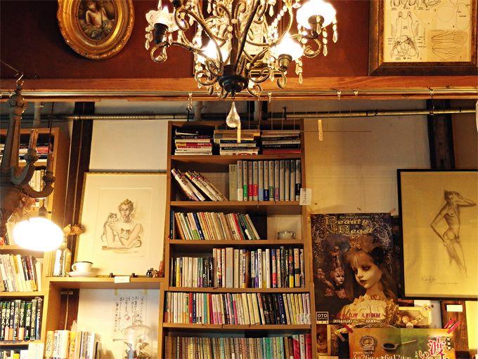 古書とアートと美味しいチョコレートスイーツ!「珈琲舎・書肆アラビク」