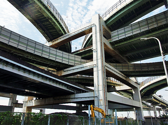 複雑すぎる形が見所「北港JCT」此花大橋も至近!