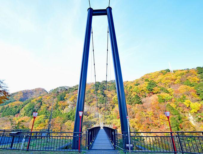 人気の眺望スポット「鬼怒楯岩大吊橋」