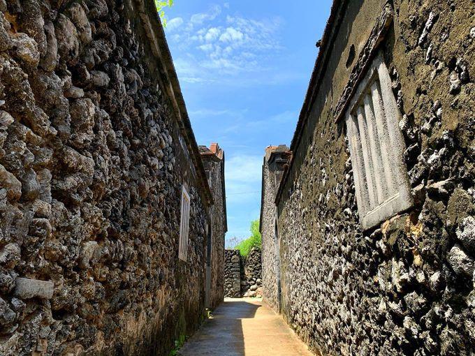 澎湖(ポンフー)ならではのサンゴでできた古民家も