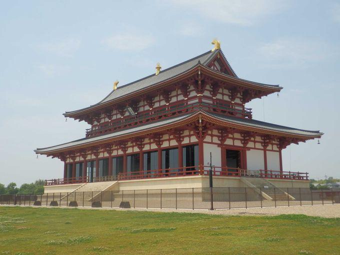 平城宮跡のシンボル・第一次大極殿