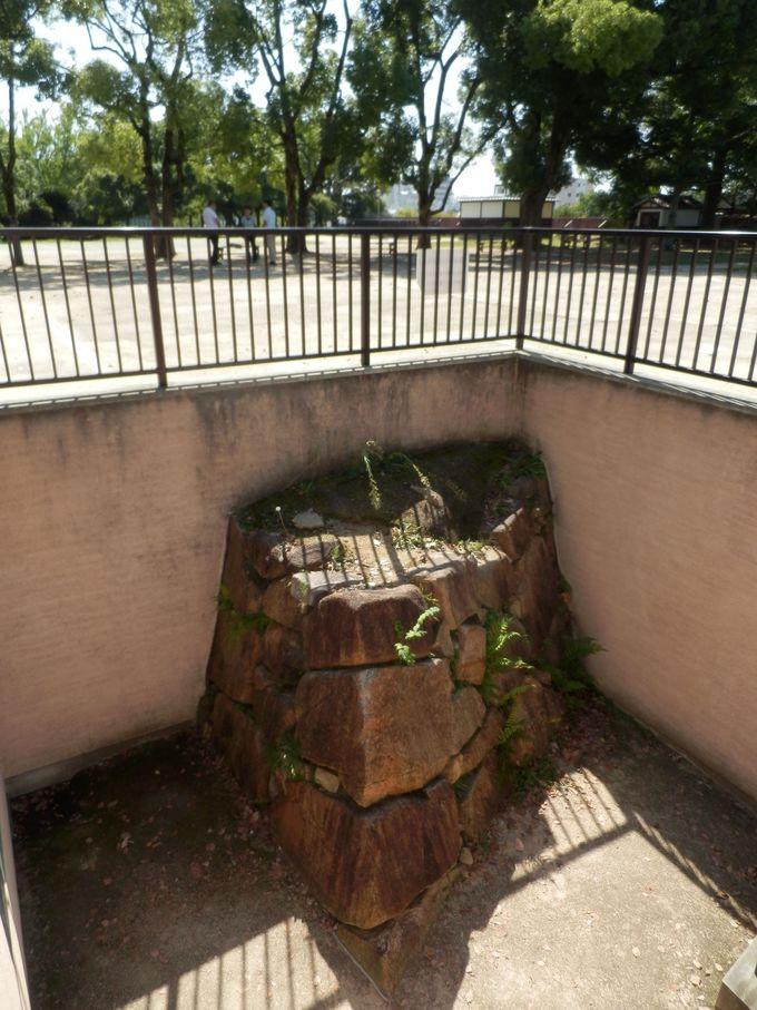 「表書院」跡から発見された宇喜多氏時代の石垣