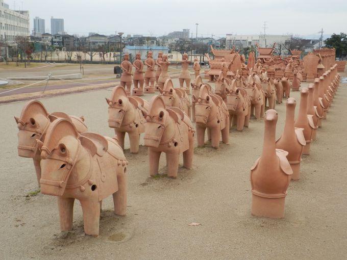 今城塚古墳のシンボル!日本最大規模の埴輪祭祀区