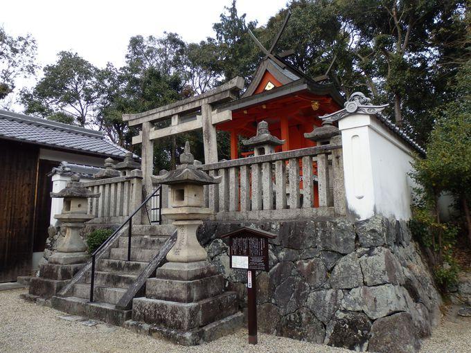崇高道天皇陵に鎮座していた嶋田神社