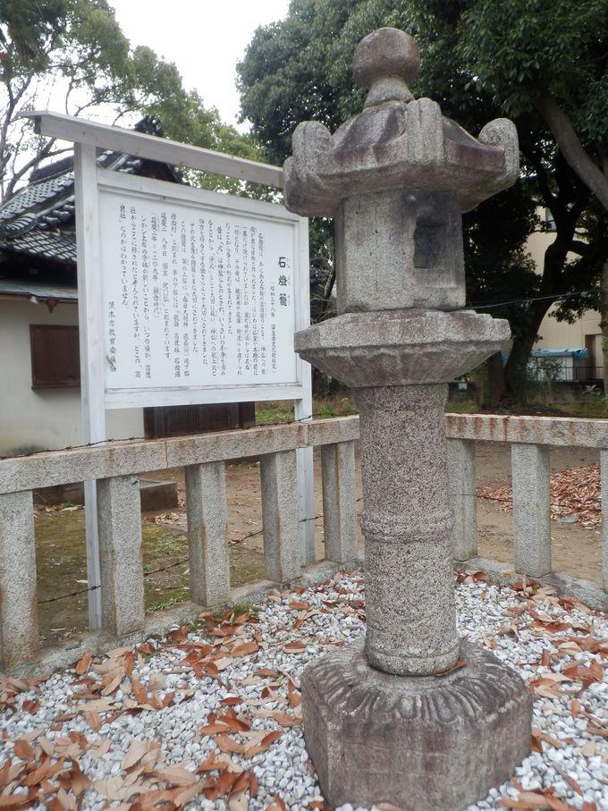 街中にひっそりたたずむ重要文化財!倍賀春日神社・石燈籠