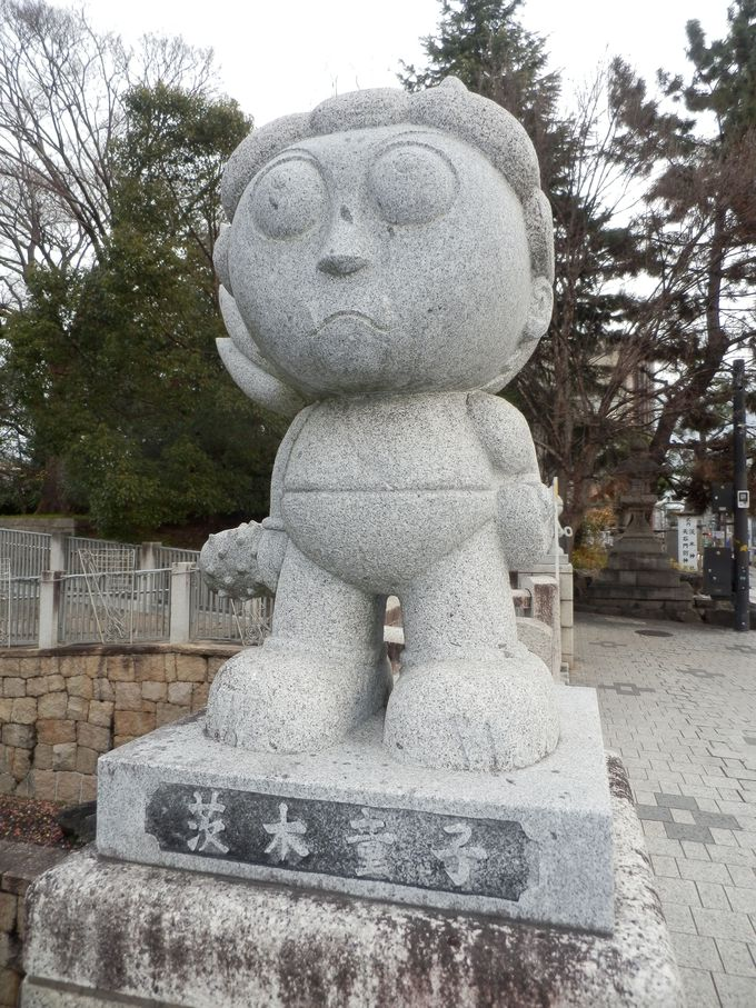 この子は誰!?市内各所で見かける茨木童子像