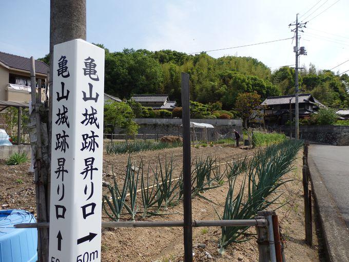 謀殺の象徴!直家が15年にわたって暮らした亀山城跡