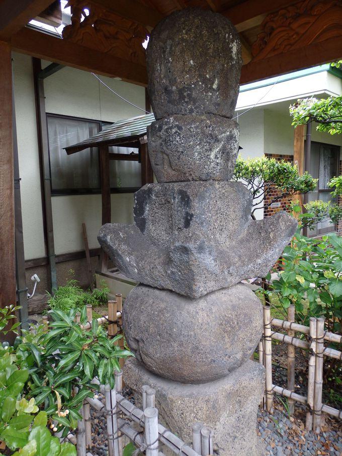 こちらにも参拝しよう!岡山寺境内の直家供養五輪塔