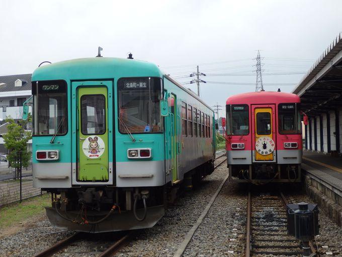 終点・北条町駅では他の列車も見学しよう!
