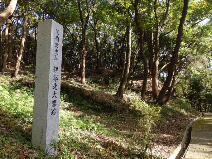 忌部神社の境内に残る北大窯跡