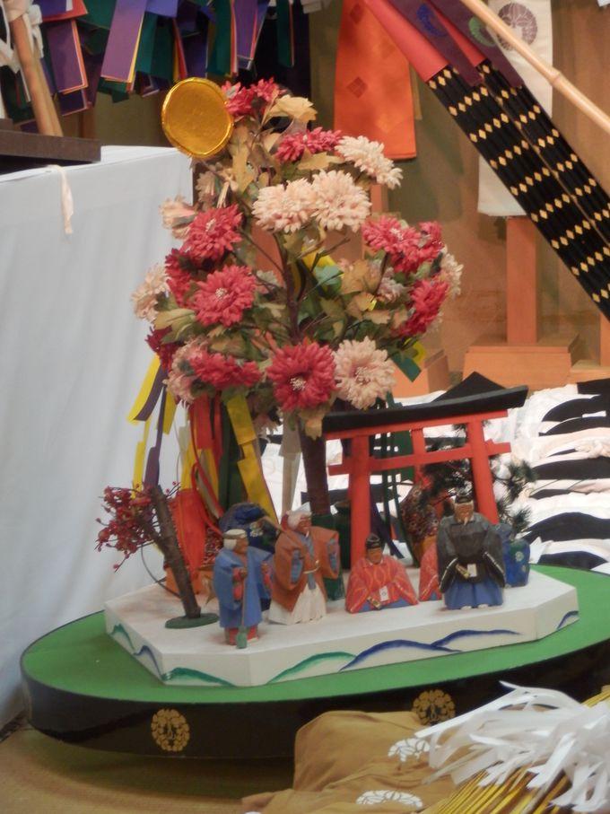 奈良人形の源流とされる田楽座の花笠