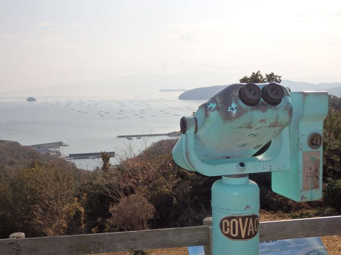 眼下に広がる瀬戸内海の島々!ブルーラインきっての展望スポット