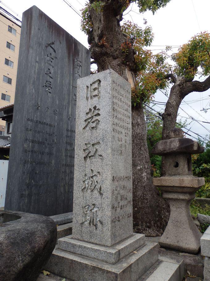あわせて見学しよう!南北朝時代以来の歴史を残す若江城跡