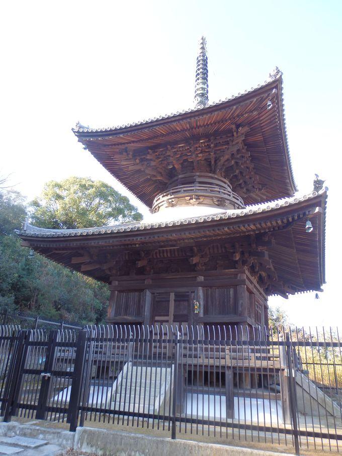 安住院のシンボル!岡山の市街地を見下ろす多宝塔