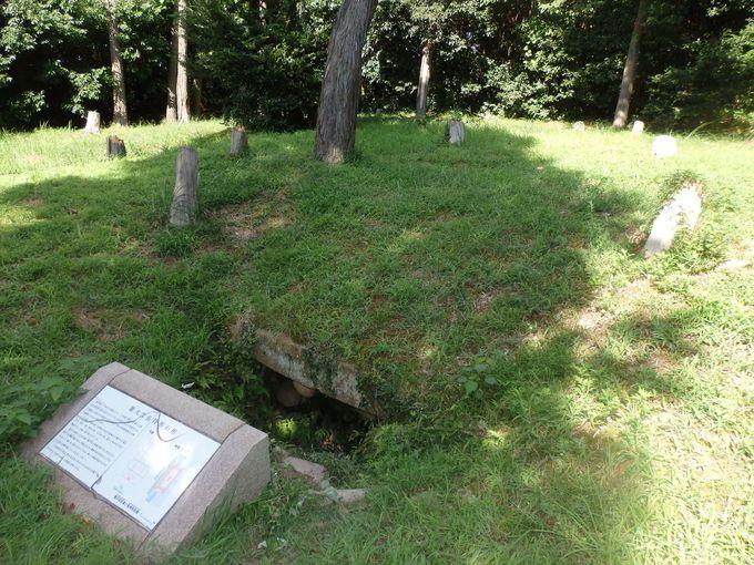 南北に並んで設けられた埋葬施設