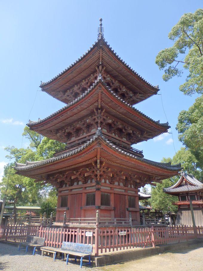 国指定の重要文化財に登録されている三重塔
