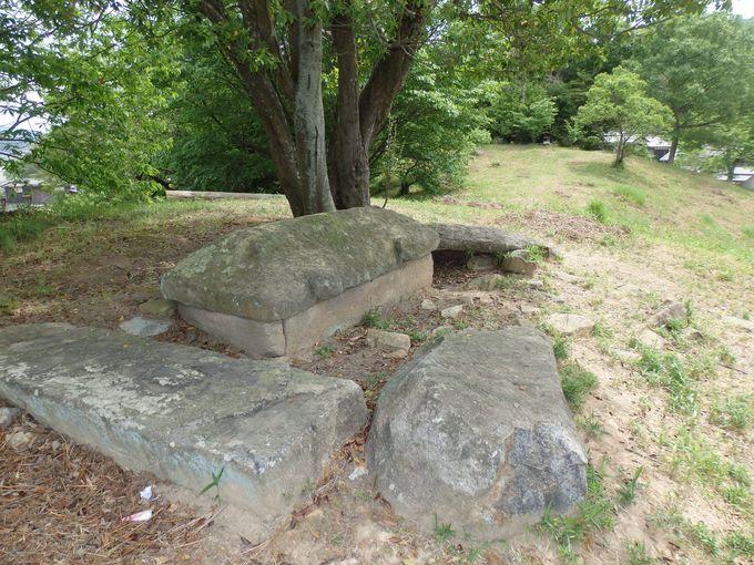 石室の残欠や石棺まで露出!岡山県指定史跡に登録されている築山古墳