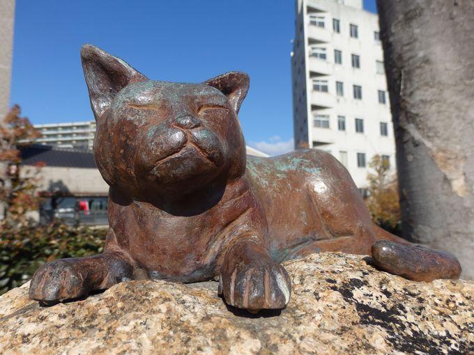 意外や意外!当地に滞在していたことを示す夏目漱石の記念碑