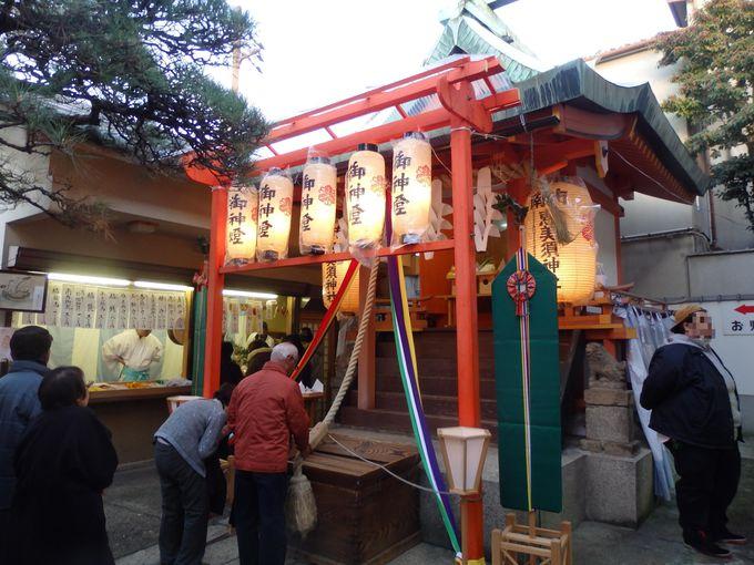初戎のとりおこなわれる南市恵比須神社