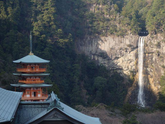 那智の滝を眺めるなら、やはりここ!青岸渡寺境内からの眺め