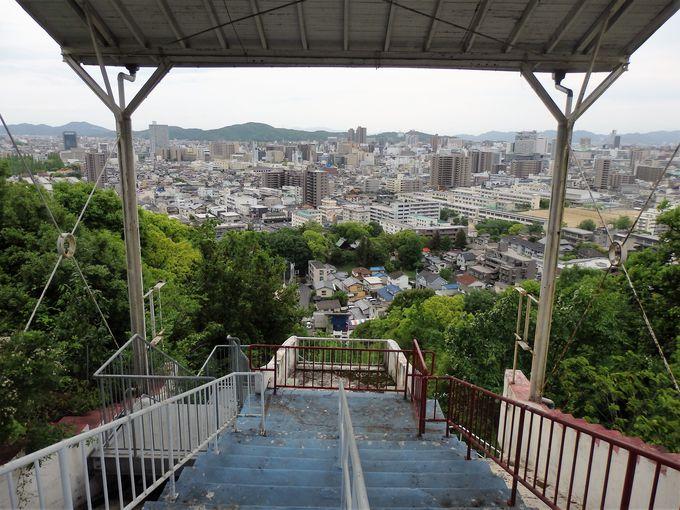 在りし日の山頂駅の賑わいをご想像しよう!山頂駅跡からの眺め
