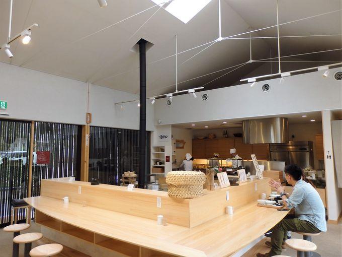 竈で炊かれた奈良のお米を味わおう!食堂スペースの「竈」