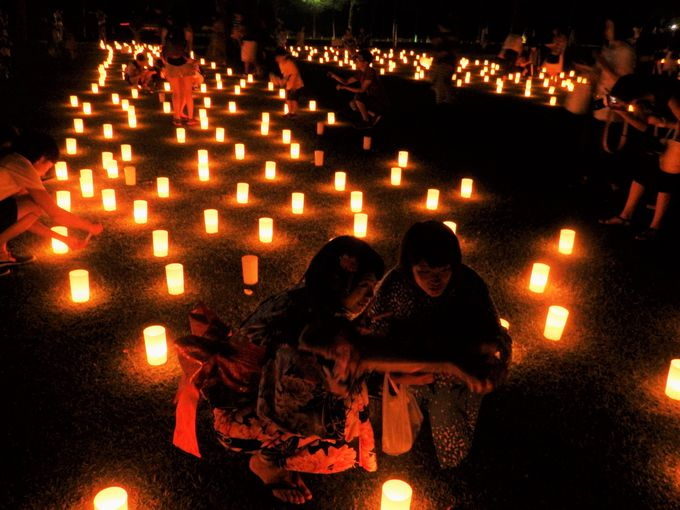 無数の燈花が幻想的!「なら燈花会」のメイン会場・浮雲園地