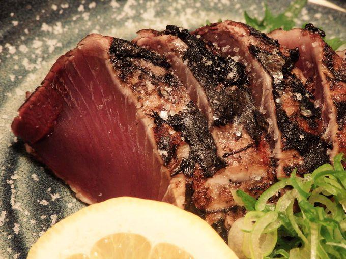 高知といえば、やはりカツオ!カツオ本来の味を楽しめる「塩タタキ」