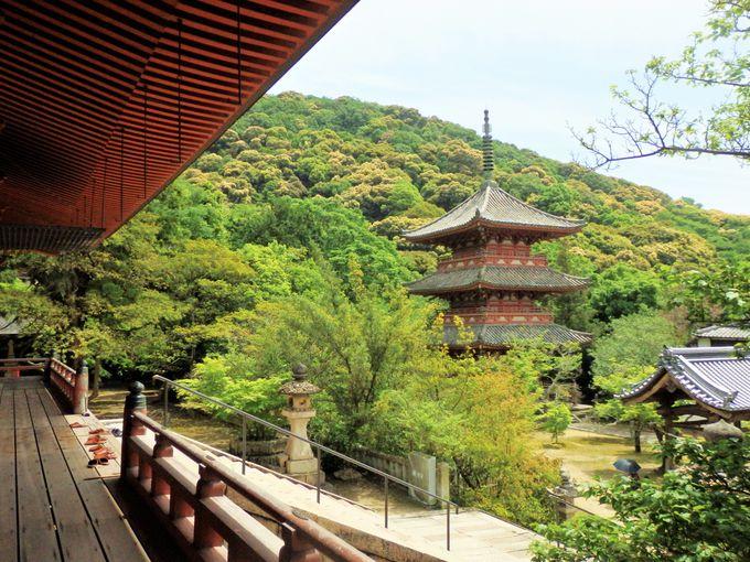 県指定文化財に登録されている三重塔
