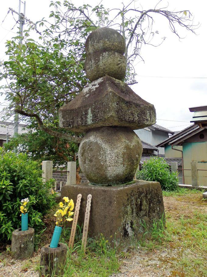 こちらも必見!一字一石経を納めた珍しい石造五輪塔