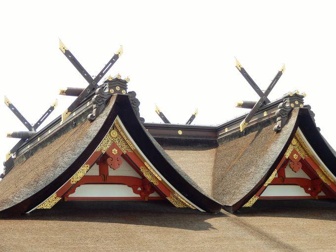 類例のない特異な構造!比翼入母屋造を象徴する屋根