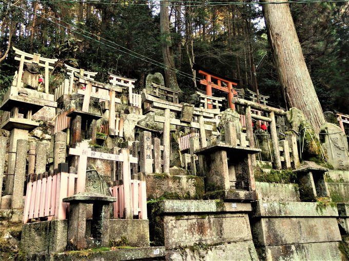 木製の鳥居だけではない!御膳谷奉拝所に多く見られる石造りの鳥居群