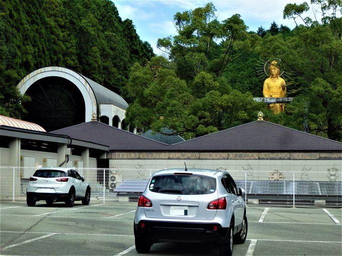 何かが森のなかから顔をのぞかせている!巨大な観音像を所有する大観音寺