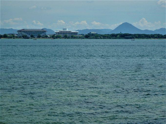 琵琶湖の雄大さを満喫!出島灯台からの眺め