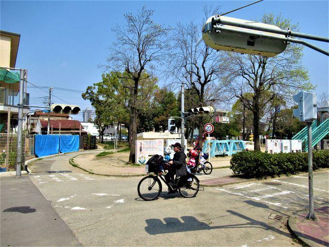 交通ルールや交通マナーの習得を目的とした「西宮交通公園」