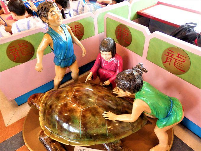 船内に見られる浦島太郎のモチーフ