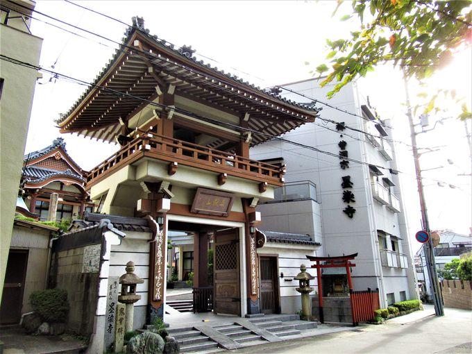 かつての「上臈塚砦」の上に立つ墨染寺
