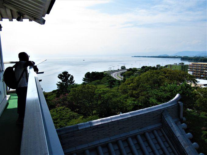 琵琶湖を眺めよう!天守からの眺め