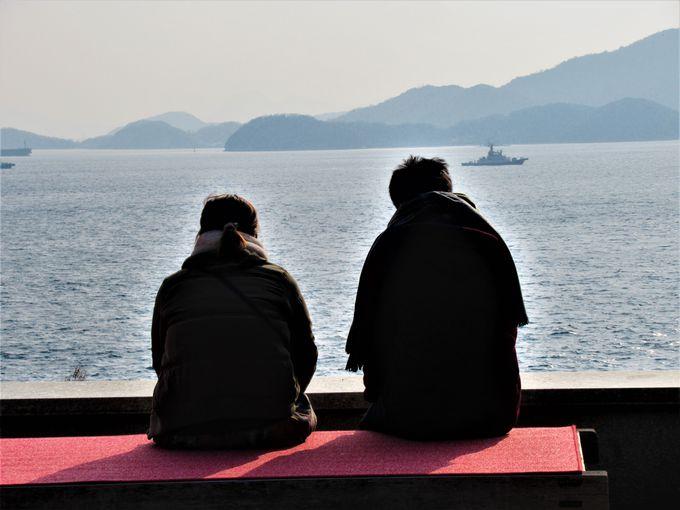 瀬戸内海や瀬戸大橋を一望のもとに!境内からの絶景